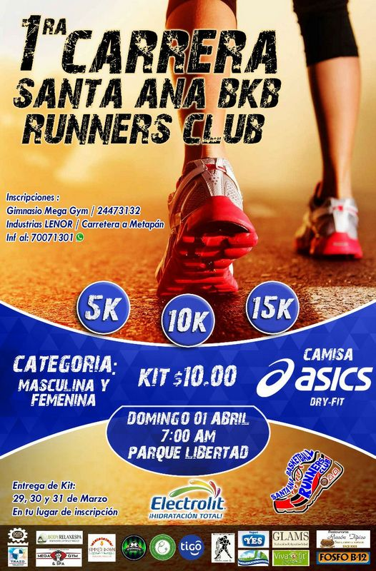 Carrera Santa Ana BKB Runners Club